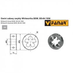Narzynka maszynowa BSW 1/8-40 DIN 22568 HSS 800