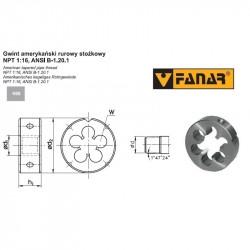 Narzynka maszynowa BSF 3/16-32 DIN 22568 HSS 800