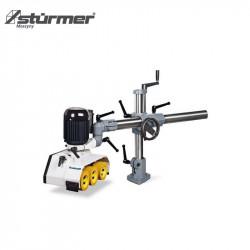 Szlifierka szerokotaśmowa do drewna z agregatem kombi i elektryczną regulacją wysokości stołu 1200 x 1020 x 1590 mm  BBS 630 C