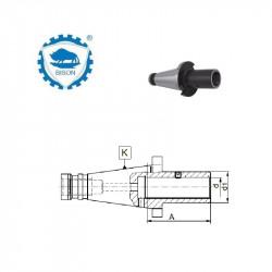 Oprawka do trzpieni i tulei z regulacją osiową  40-16-60 DIN 2080  Typ 1616