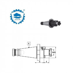 Trzpień frezarski zabierakowy  30-32-45 DIN 2080  Typ 7311 QC