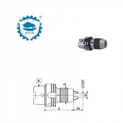 Oprawka 63-13-150  z uchwytem wiertarskim bezkluczykowym DIN 69893-A  Typ 5391
