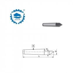 Kieł stały 60°  0-70  zewnętrzny ze ścięciem  DIN 228 Typ 8730