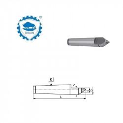 Kieł stały 60°  6-270  zewnętrzny ze ścięciem  DIN 228 Typ 8730