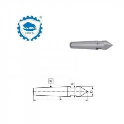 Kieł stały 60° 7-360  zewnętrzny z płaską pod klucz  DIN 228 Typ 8720