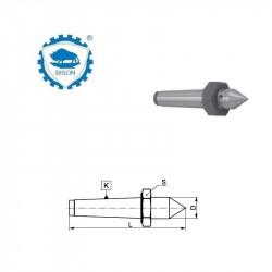 Kieł stały 60° 0-78  zewnętrzny z płaską pod klucz i końcówką z węglików spiekanych   DIN 228 Typ 8721
