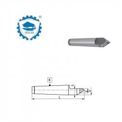 Kieł stały 60° 0-70  zewnętrzny ze ścięciem i końcówką z węglików spiekanych   DIN 228 Typ 8731
