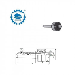 Kieł stały 60° 4-146  wewnętrzny ze ścięciem  DIN 228 Typ 8740