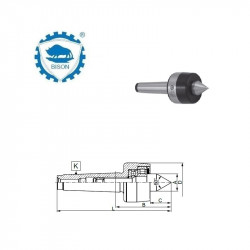 Kieł  tokarski 1-100 obrotowy DIN 228 Typ 8811