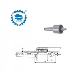 Kieł  tokarski 4-1000  obrotowy wydłużony do tokarek NC DIN 228 Typ 8814 NC