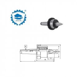 Kieł  tokarski 4-1000 obrotowy wydłużony do tokarek NC DIN 228 Typ 8815 NC