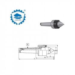 Kieł  tokarski 2-100 obrotowy z kompensacją promieniową  DIN 228 Typ 8823