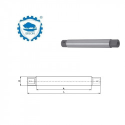 Trzpień 3-36-55 tokarski stały z zabierakami płaskimi DIN 523  Typ 8500