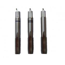 Gwintowniki ręczne fi 3,0mm KOMPLET 3 SZT. DIN 352 FESTA Professional