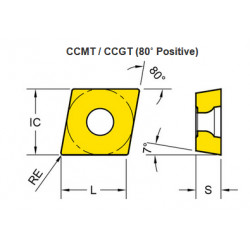 PŁYTKA CCGT 09T302 -AL YG100