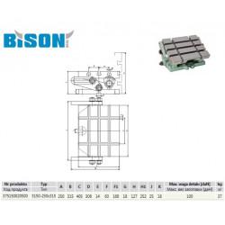 STÓŁ FREZARSKI 5150-250X315 BISON-BIAL