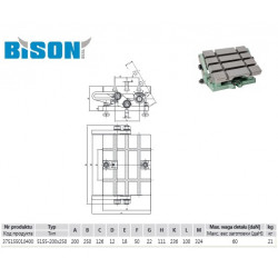 STÓŁ FREZARSKI 5155-200x250 BISON-BIAL